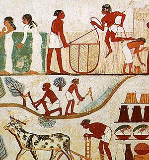Wandmalerei ägypten